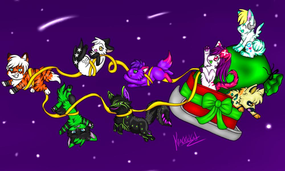 Sleigh Riding (Not My Art!)