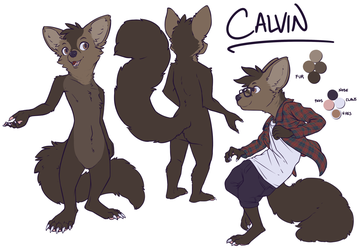 Calvin ref sheet (clothed)