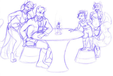 Business Transaction - Commission Sketch for Perdikitti