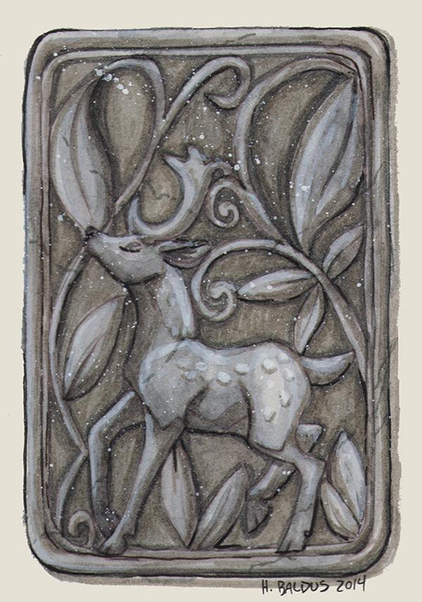 Inktober #18 - Deco Deer