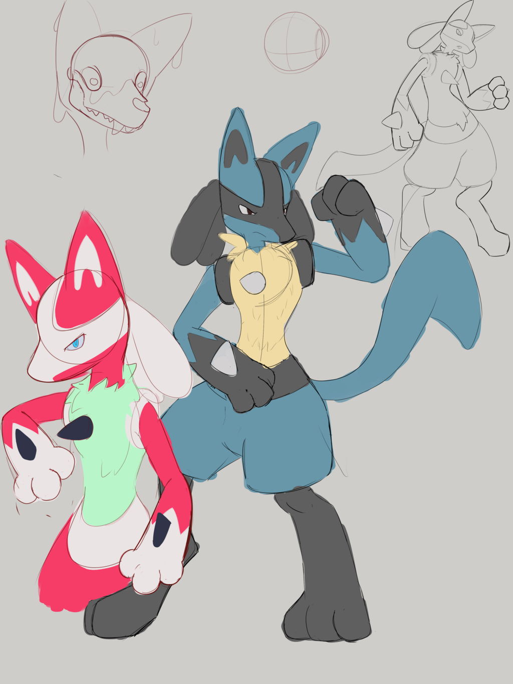 Most recent image: Lucario Sketches