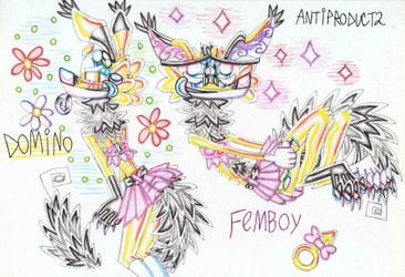 Domino is femboy