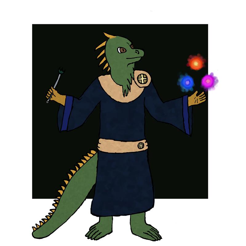 Grand RPG Party 8/11 - Iguana Sorcerer