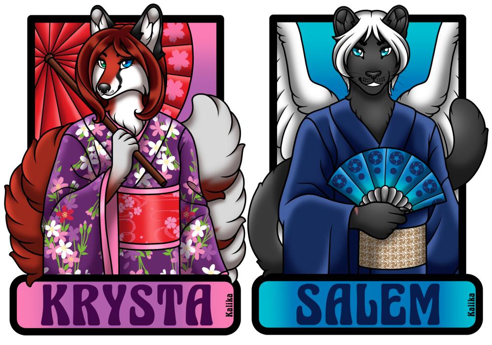 Badges - Salem and Krysta