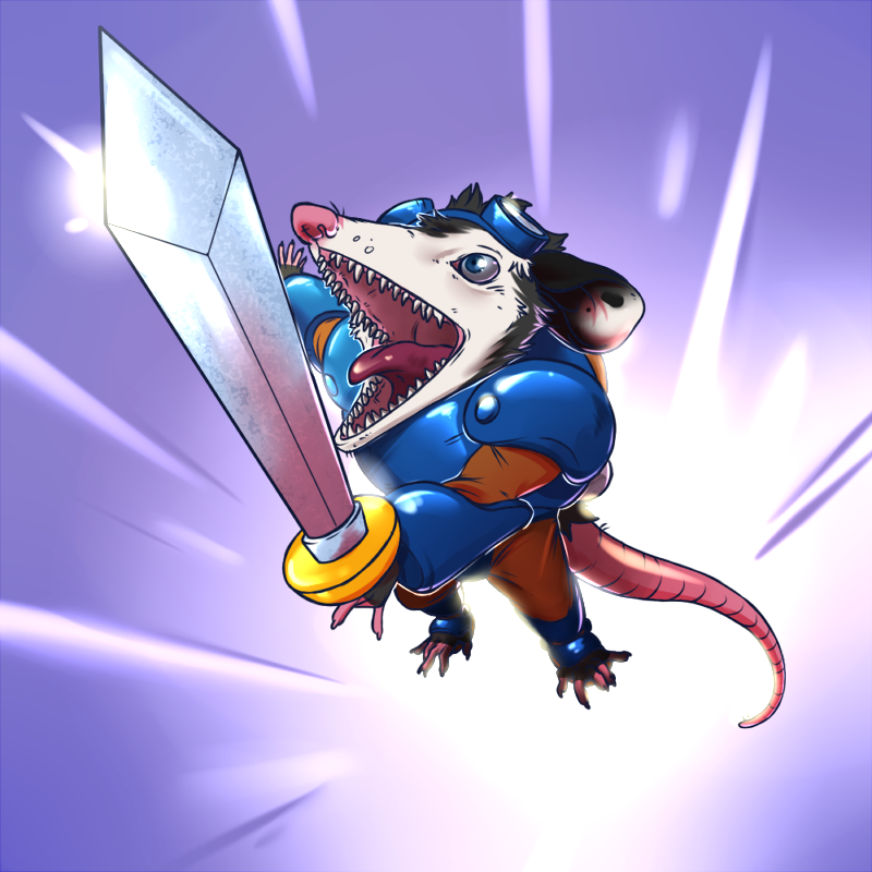 Most recent image: Rocket Knight!