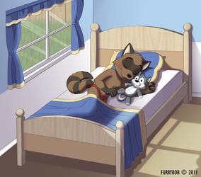 FurryBob Commission - Sleepy, Happy Coon