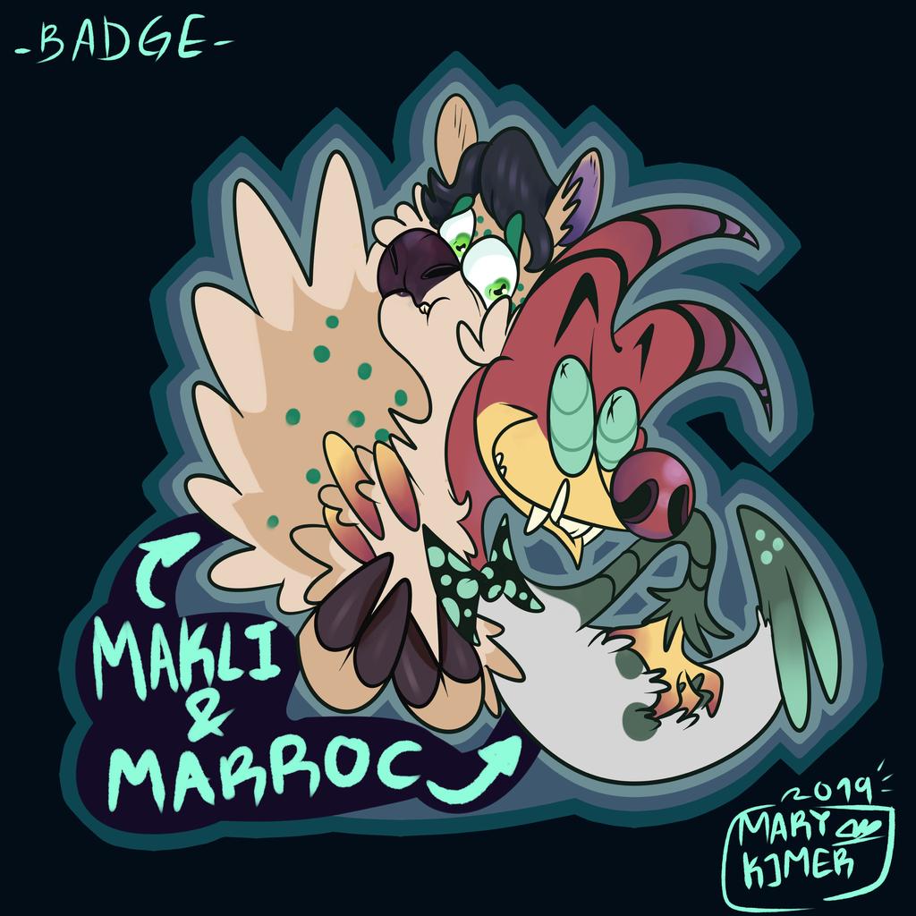 Makli and Marroc, badge