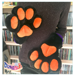 (FOR SALE) Black Handpaws With Orange Pawpads
