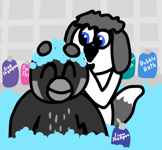 Most recent image: Bath with a friend