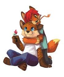 Fox Buddies - Art by Herutastic