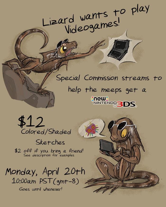 Livestream Commissions April 20th @10am!