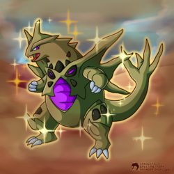 #248 - The Armor Pokemon - Tyranitar (Shiny Mega)