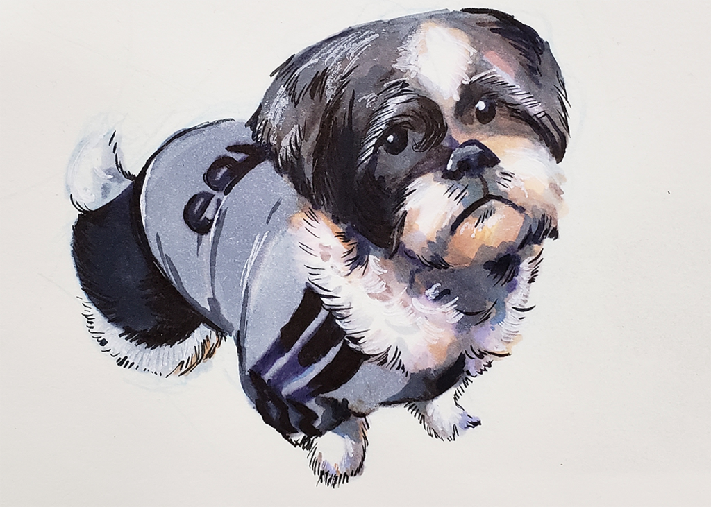 Commission: Copic Puppy