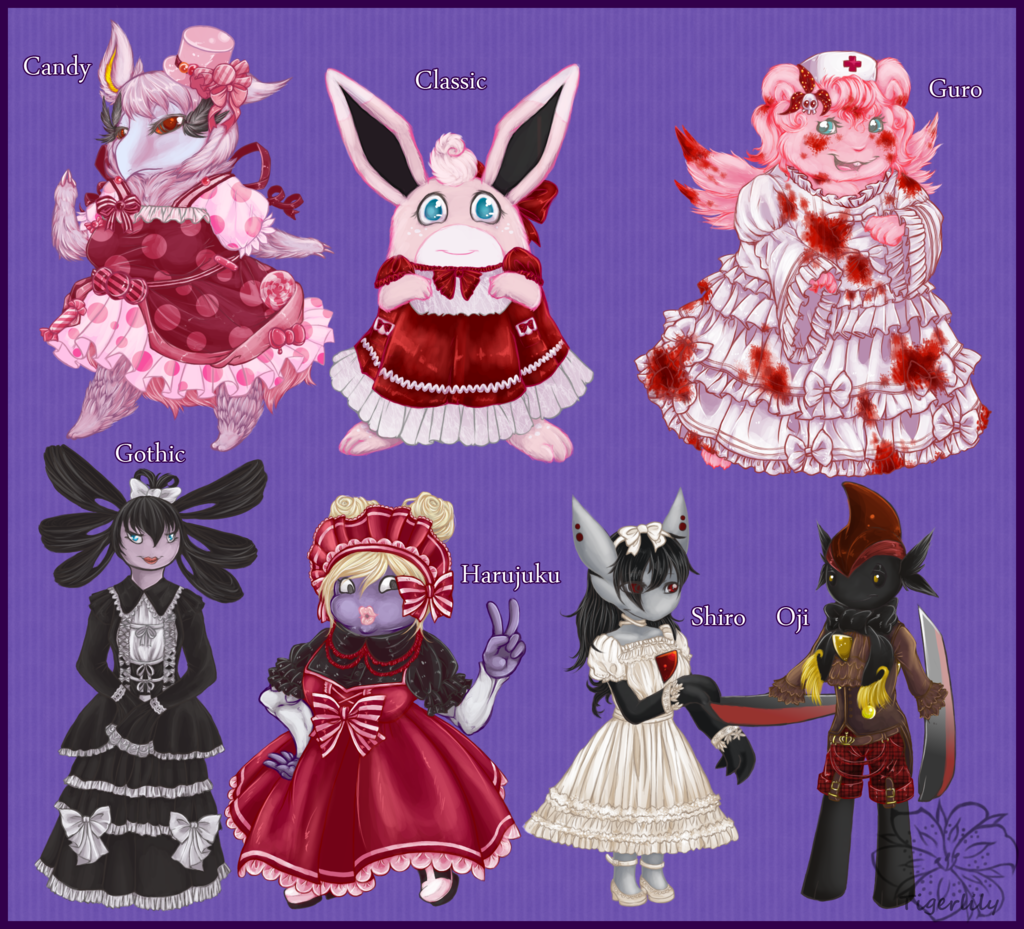 Lolita Pokemon theme set 2
