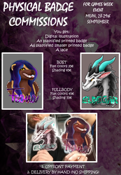 Physical Badge Commissions - GamesWeek Event