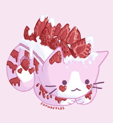 strawberry cake cat