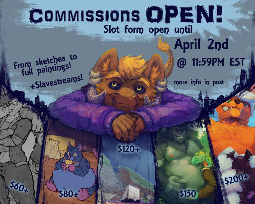 Most recent image: Commissions and Slavestreams OPEN!