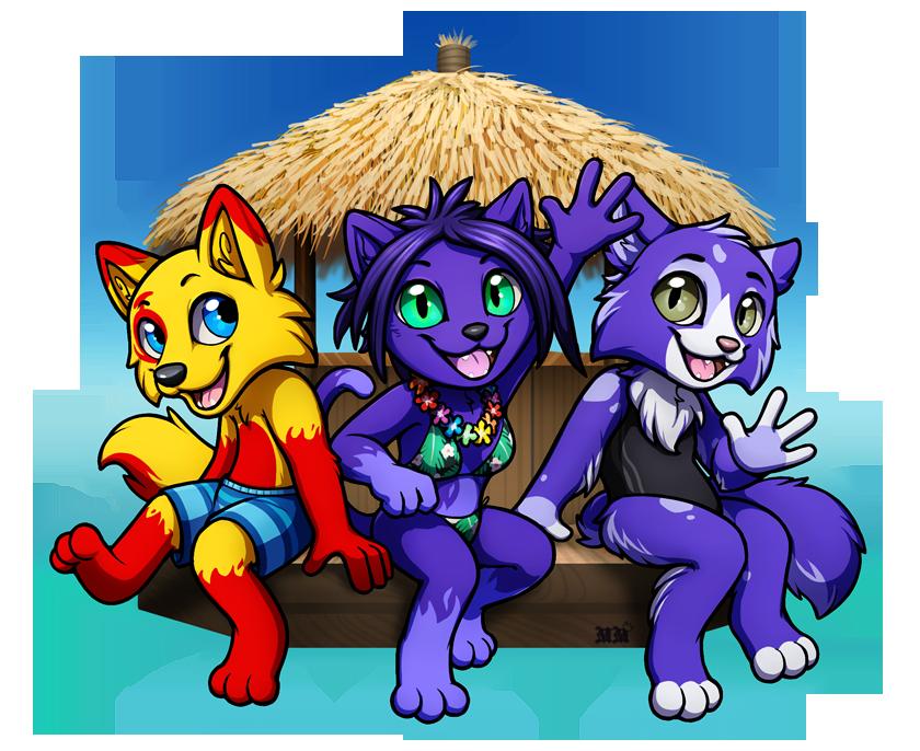 Floating Hut Trio Badge: Kokeui, Lein, Fabia