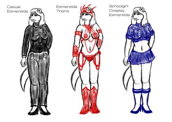 [S.C.A.M.] Esmerelda Sketches