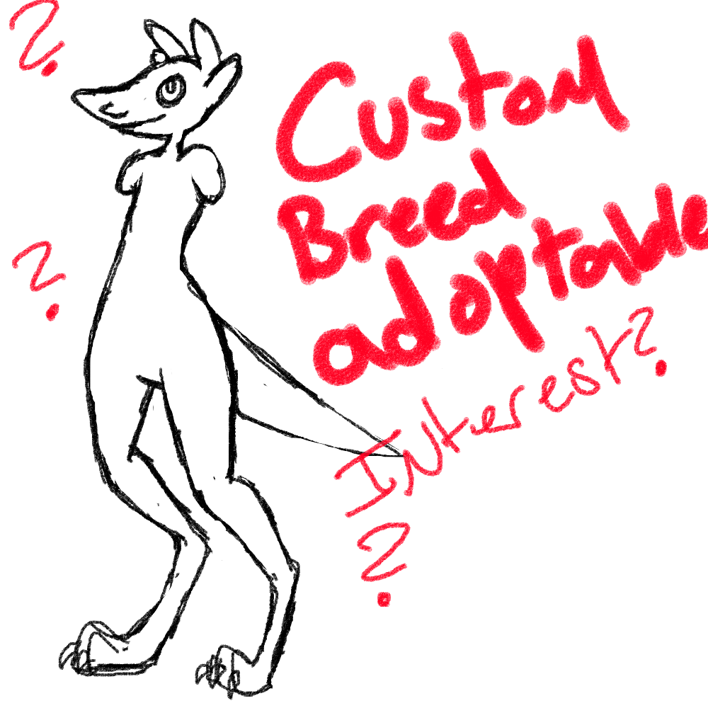 custom breed adoptable interest?