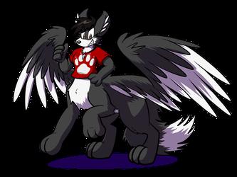 Red Winged Wolftaur