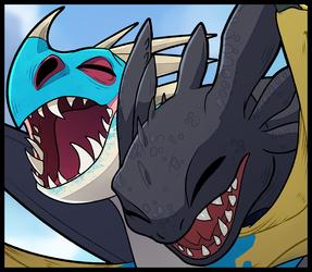 Thumbnail:Toothless x Stormfly