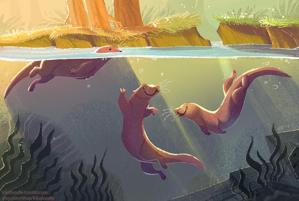 Otter Sunset