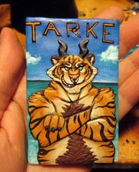 Beach Tiger (bas relief badge)