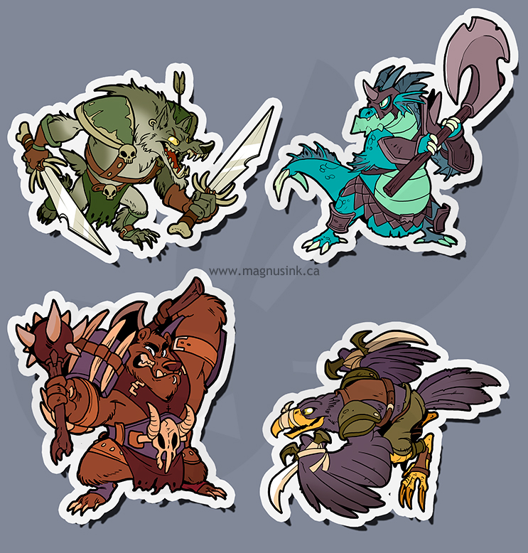 Beast Brigands stickers