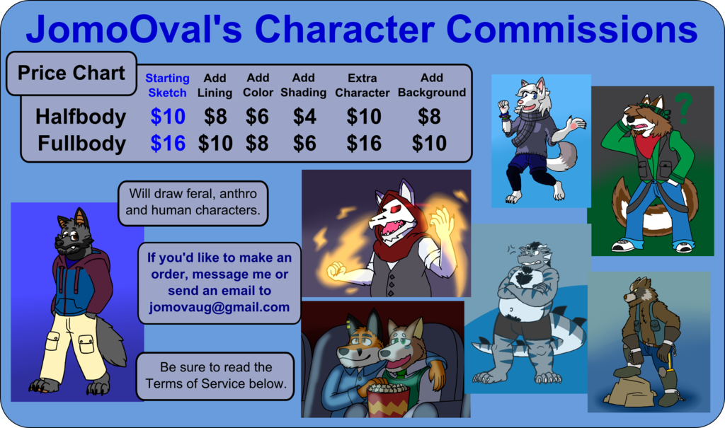 Featured image: Character Drawing Commission Prices