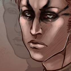 Bust, Sketch: Throne