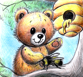 The bear and the beehive