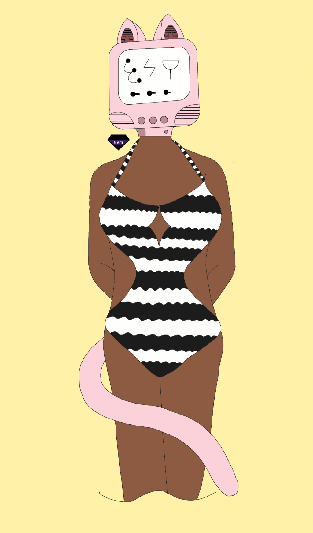 Most recent image: Feline in a monokini