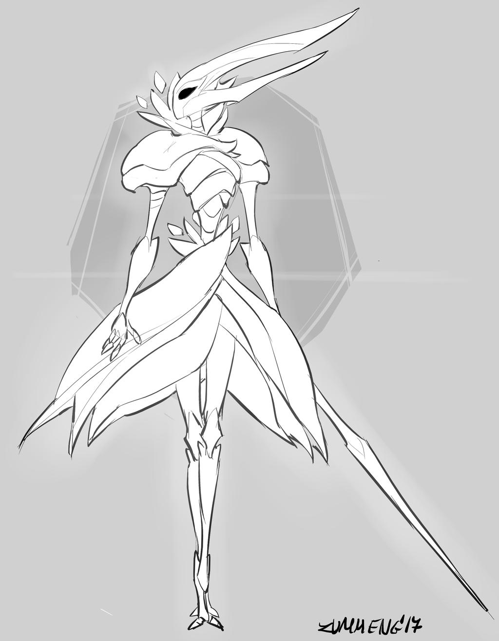 Dryya - Hollow Knight Fanart