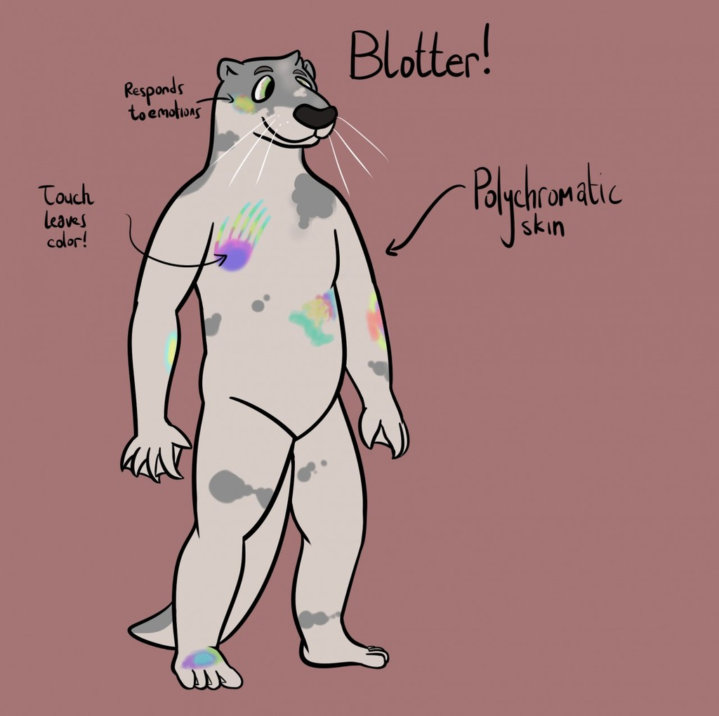 Most recent image: Blotter Character Sheet