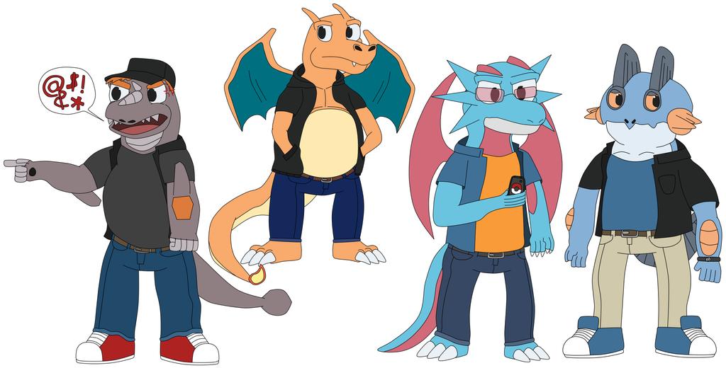 A whole bunch of Pokémorphs