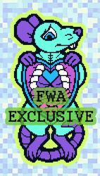 FWA EXCLUSIVE pixel rat sticker!