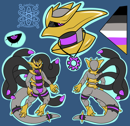 Male Giratina Reference +Flatcolored Commission 2/2+