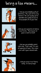 being a fox means...