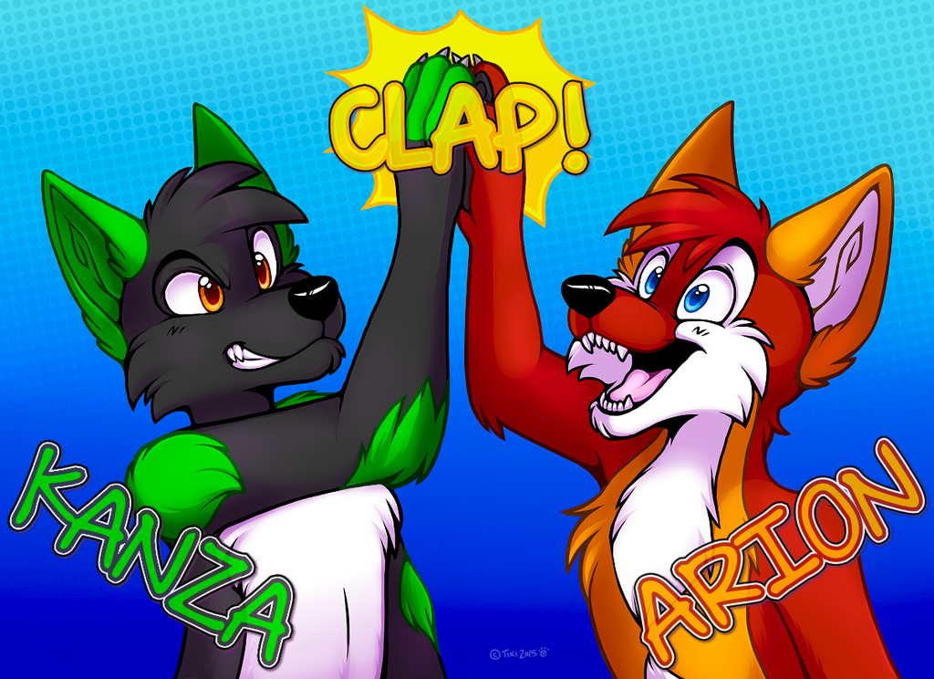 High-Five! Kanza & Arion (Commission)