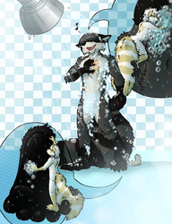 Raccoon Suds by aggro_badger