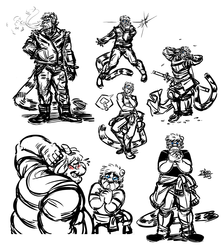 Doodle Dump 15 - The Many Poses of Iaido