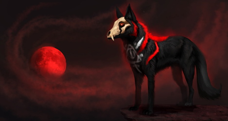 Omen of the red moon