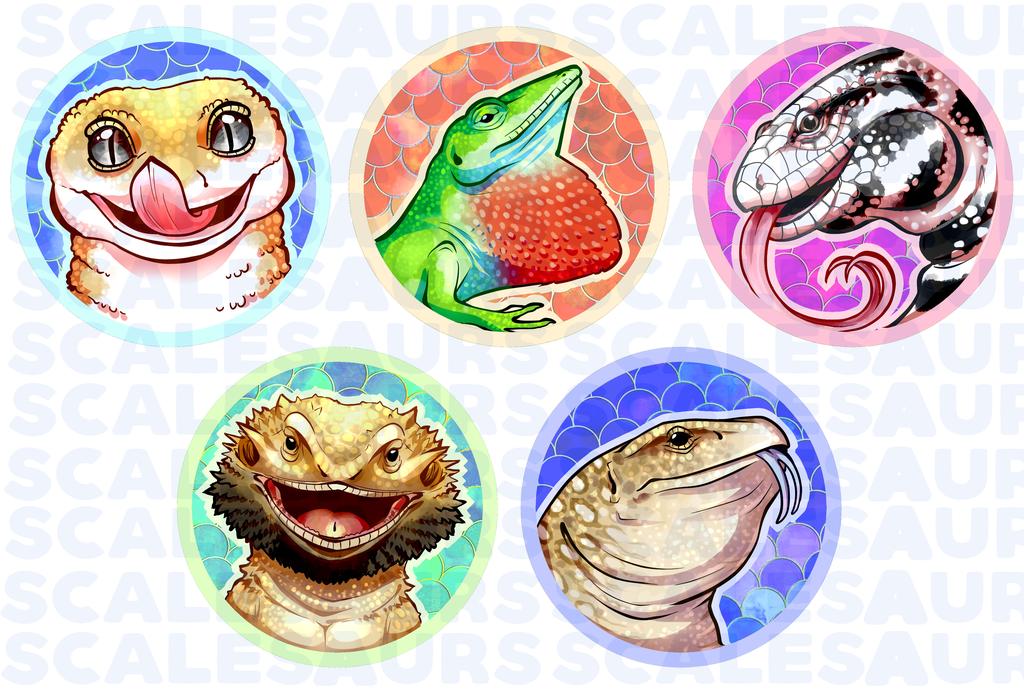 Scalesaurs Lizard Pins