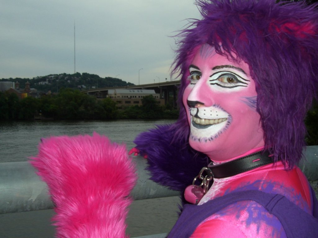 Cheshire Cat by the river at AC 2012