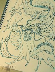 Asian Water Dragon Tattoo
