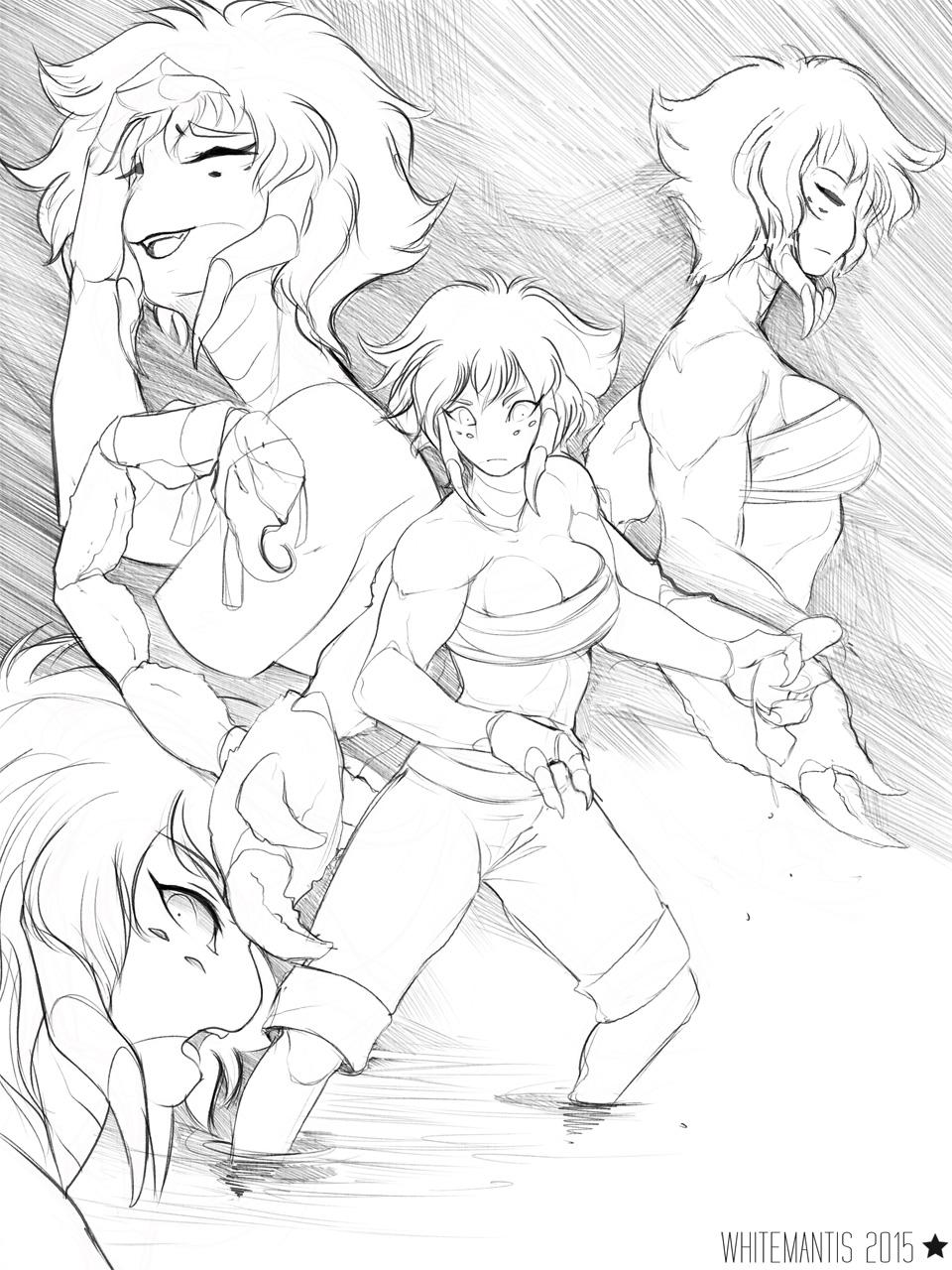 Blade Under Mask: Sayaka Doodles