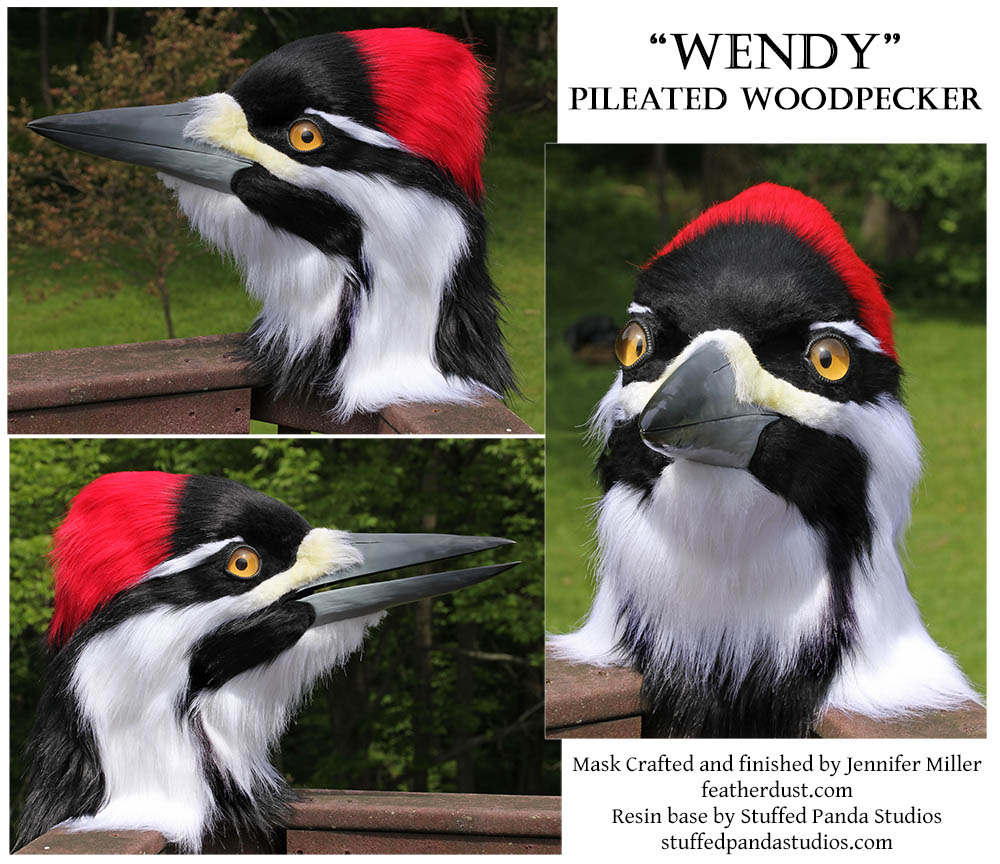 Wendy the Pileated Woodpecker Mask