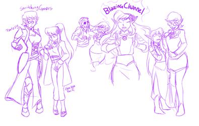 Sketch: Dahlia and Elena