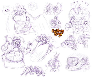 Sketchpage Commission ~ Monster Mash